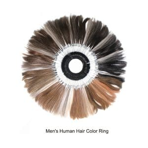 Men's Human Hair Color Ring