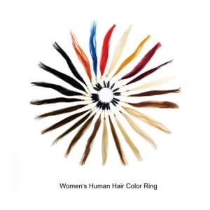 Women's Human Hair Color Ring