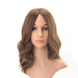 Long hair long layer light brown tone wavy European hair Jewish wig