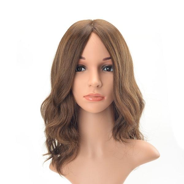Long hair long layer light brown tone wavy European hair Jewish wig