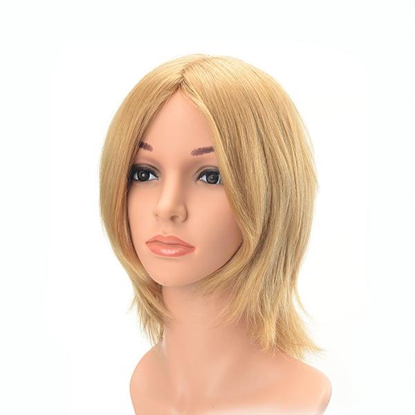 Short natural straight blond high quality European virgin hair Jewish wig