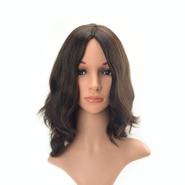 Middle length wavy high quality European hair Jewish wig