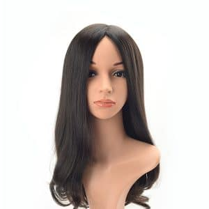 Long hair slightly wave high quality Mongolian virgin hair Jewish wig
