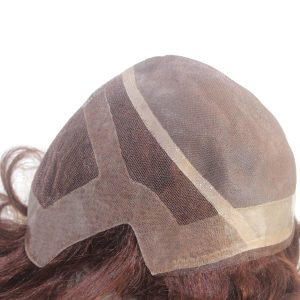LJC1796 Synthetic Hair Fine Mono Wig