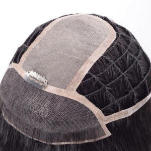 Custom Ladies Braided PE Line Integration Hair System with Mono Top