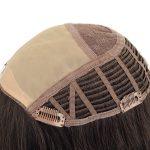 Mono top machine made human hair topper for women