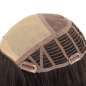 Mono top machine made human hair topper for women