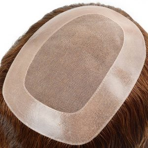 Fine mono toupee for women durable hair piece
