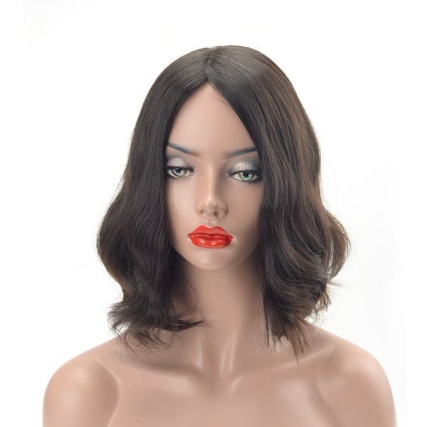 Middle Length Curly High Quality Mongolian Virgin Hair Jewish Wig