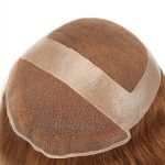 Ombre color invisible Lace toupee for women