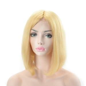 Blond 613 color bob style human hair wig