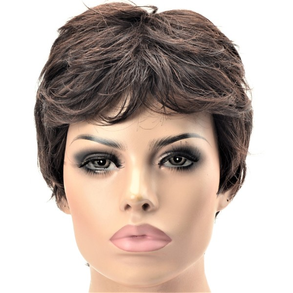 Women's synthetic short chestnut wig