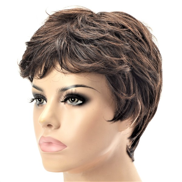 Synthetic short chest ladies wig