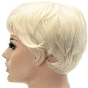 White Blonde Pixie Crop Ladies High Quality Synthetic Lace Front Wig