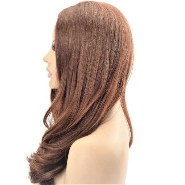 Toffee Brown Toned Long Loose Wave Synthetic Ladies Wig