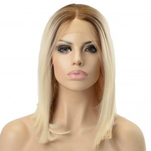 Ladies Stylish Shoulder Length Blonde A-Line Synthetic Wig (3)