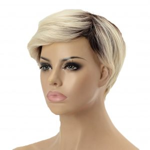 Short Platinum Blonde Pixie Cut Women's Synthetic Wig