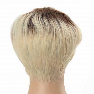 Short Platinum Blonde Pixie Cut Women's Synthetic Wig (3)