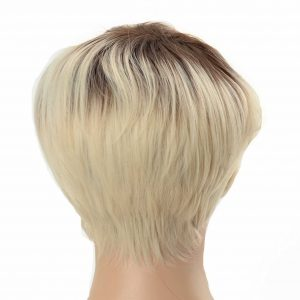 Short Platinum Blonde Pixie Cut Women's Synthetic Wig (3)