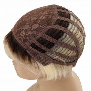 Short Platinum Blonde Pixie Cut Women's Synthetic Wig (5)
