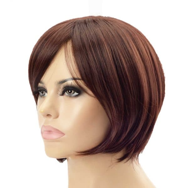 Stylish Chestnut Brown Bob Ladies Synthetic Wiglet