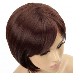 Stylish Chestnut Brown Bob Ladies Synthetic Wiglet (4)