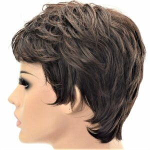 High Quality Chestnut Toned Short Naturally Curled Ladies Synthetic Wig