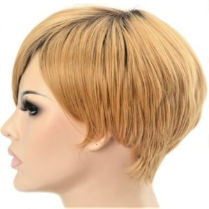 Naturally Straight Honey Blonde Short Bob Ladies Synthetic Wig