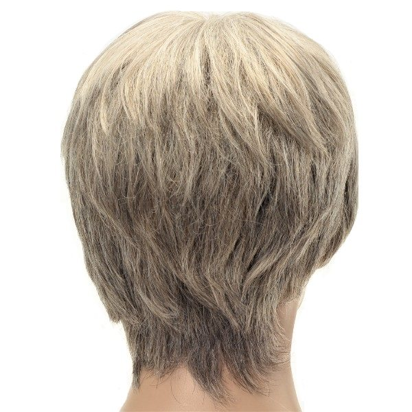 blonde short synthetic ladies wig
