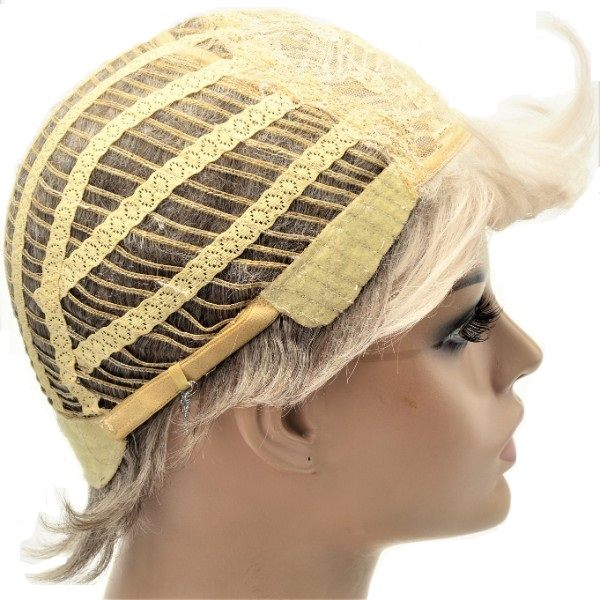 Ladies short synthetic blonde wig