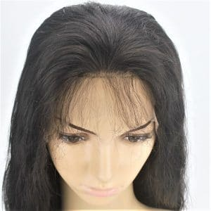 custom ladies elasticated net and lace front full real human hair wig_2