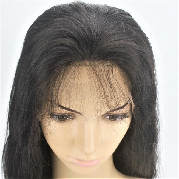 Custom Ladies Elastic Net and Lace Front Full Women s Human Hair Wig 498e3083f8