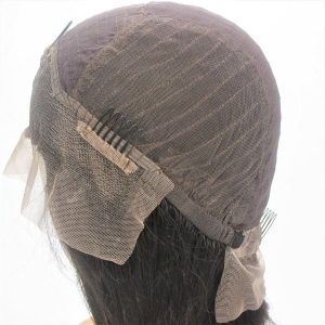 Custom Ladies Elastic Net and Lace Front Full Women's Human Hair Wig