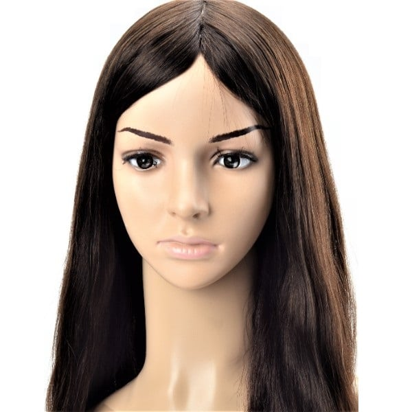 ladies mono and silk top base custom wig
