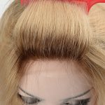 Blond color with dark root mono cap wig with lace front