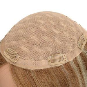 Top-Quality Mongolian Remy Hair Women's Stock Silk Top Hair Topper New Times Hair