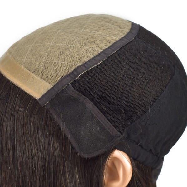 Stock Long Straight Human Hair Medical Wig New Times Hair