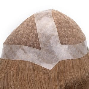 NW22662: French Lace with Clear PU Full Cap Wig with Chessboard Highlights New Times Hair