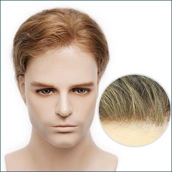 HS1 Men's Toupee, Toupee for men, Toupee hair, Human hair toupee, men's human hair toupee