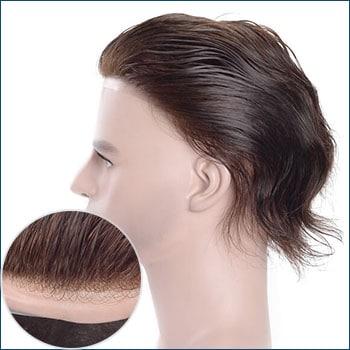 HS1R Men's Toupee, Toupee for men, Toupee hair, Human hair toupee, men's human hair toupee