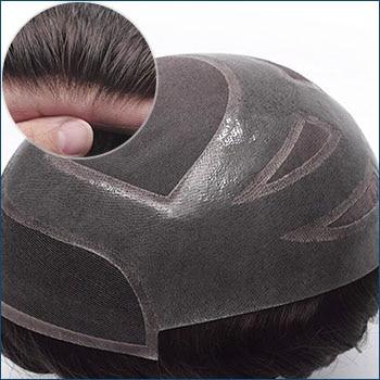 HS27+ Men's Toupee, Toupee for men, Toupee hair, Human hair toupee, men's human hair toupee