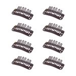 6-Tooth Wig Clips for Hair Replacement Systems