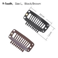 9-Tooth Wig Clips for Hair Replacement Systems