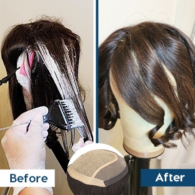 how to dye hair toppers