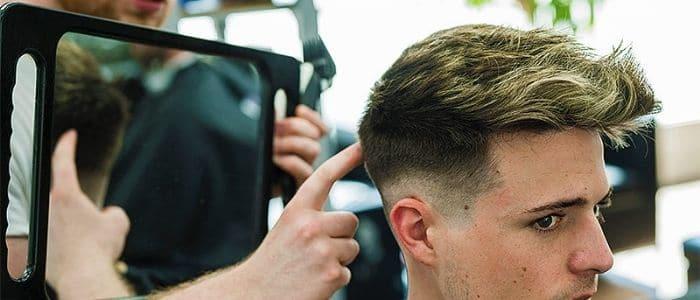 haircut in salon