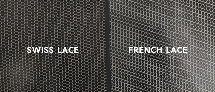 swiss lace vs. french lace